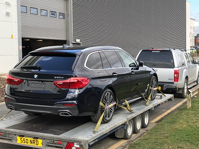 ENDE- the transport by trailer experts, has just transported a car by trailer from Reading, Berks to Cheltenham, Glos .