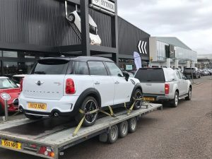 ENDE- the transport by trailer experts, has just transported a car by trailer from Slough, Berks to Newport, South Wales.