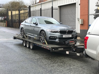 ENDE- the transport by trailer experts, has just transported a car by trailer from Birmingham, West Midlands to Hungerford, Wiltshire.