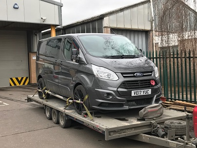 ENDE- the transport by trailer experts, has just transported a car by trailer from Leicester to Gloucester.