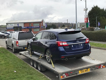 ENDE- the transport by trailer experts, has just transported a car by trailer from Ruthin, Cornwall to Crickhowell, South Wales.