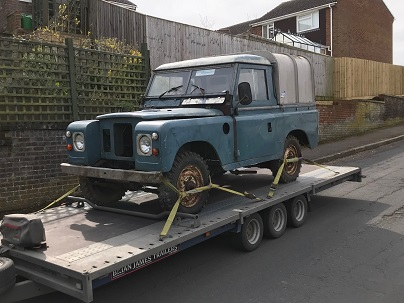 ENDE- the transport by trailer experts, has just transported a car by trailer from Swindon to Trowbridge, Wiltshire.