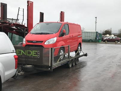 ENDE - the transport by trailer experts, has just transported a van by trailer from London to Gloucester, Glos.